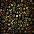 Elegant black golden seamless pattern — ストックベクタ