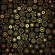 elegantes Schwarzes golden nahtlose Muster — Stockvektor