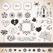 Lovely romantic set — Stock Vector #21971369
