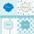 Frames and cute seamless backgrounds - Vektorgrafik