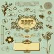 Vector set in vintage style - Stock Vector