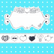 Royalty-Free Stock Vector Image: Lovely drawn card with darling hearts