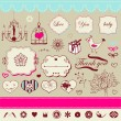 Lovely romantic set — Stock Vector #21973089
