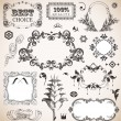 Vector set in vintage style — Stock Vector