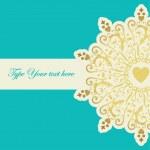 Elegant card with golden element — Stock Vector