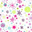 Holiday card with stylized snowflakes — Stockvectorbeeld