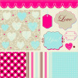 Royalty-Free Stock Vector Image: frames and cute romantic backgrounds