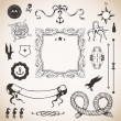 Nautical set with elements — Stock Vector #21974845