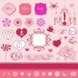 Lovely cute set for Your design — Stock Vector