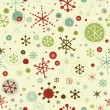 Seamless retro background with snowflakes — Stock Vector