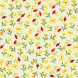 Seamless colorful floral pattern Flowers texture — Stock Vector #21976821