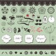 Vector set with vintage elements for You — Stock Vector