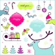 Royalty-Free Stock Vector Image: Funny Christmas set