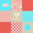 Set of lovely backgrounds — Stock Vector