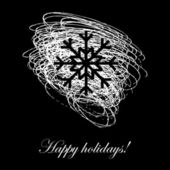 Happy holidays - card — Stock vektor