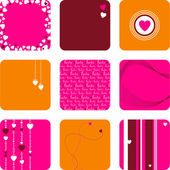 Lovely set of hearts — Stock Vector