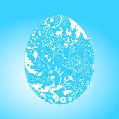 Tarjeta de pascua con huevo floral estilizado — Vector de stock