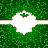 абстрактный рождественская открытка с омела — Cтоковый вектор