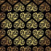 Elegant black golden seamless pattern — Stock Vector