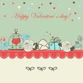 Valentine card — Stockvektor