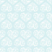Laced seamless pattern with hearts — Vector de stock