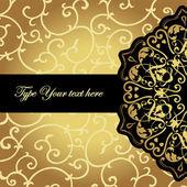 Elegant black golden pattern — Wektor stockowy