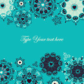 Cheerful card with stylized heart flakes — Stock vektor