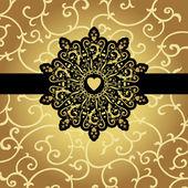 Elegant svart gyllene mönster — Stockvektor