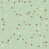 Pattern made of heart shapes — Stock Vector