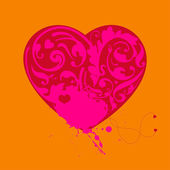 Lovely romantic card — Stock Vector