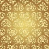 Laced seamless pattern with stylized hearts — Stok Vektör