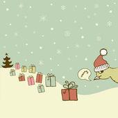 Funny Christmas set — Stock Vector