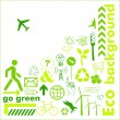 Go green card - Stockvectorbeeld