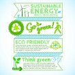 Go green poster - Stock Vector