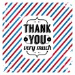 Thank you card on tricolor grunge background. Gratitude card for Your clients. Vector image.  — Stock Vector
