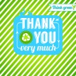 Ecological thank you card. — Stock Vector