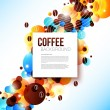 Bright coffee background with flare effect. — Stock Vector