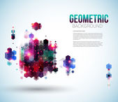 Glossy abstract page layout for Your presentation. — Stock Vector