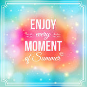 Enjoy every moment of Summer. — Stock Vector