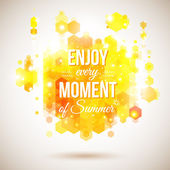 Enjoy every moment of Summer. Positive and bright yellow poster. — Stock Vector