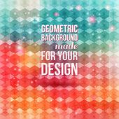 Agradável e colorido padrão geométrico. fundo com hexágonos. — Vetor de Stock
