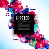 Stylish hipster poster on a contrast shiny background. — Stock Vector