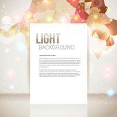 Bright and sparkling page layout with place for your text. — Stock Vector