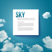 Sky with clouds page layout for Your business presentation. — Stock Vector