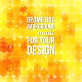 Yellow hexagon background. — Stock Vector