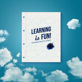Learning is fun. Motivating poster. — Stock Vector