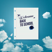 Welcome back to school. Motivating poster. — Stock Vector