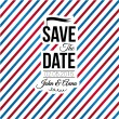 Save the date for personal holiday. Wedding invitation. — Stock vektor