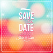 Save the date for personal holiday. Wedding invitation. — Stock Vector