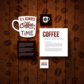 Design template for Your coffee shop. — Stock Vector